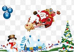 Merry Christmas - Santa Claus Christmas Gift Christmas Ornament PNG