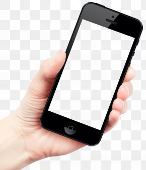 Hand Holding Smartphone - IPhone 6 Plus Smartphone Telephone PNG