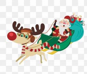 Santa Claus Sledding - Santa Claus Christmas PNG