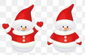 Transparent Cute Red Santa Claus Decor Clipart - Santa Claus's Reindeer Christmas Clip Art PNG