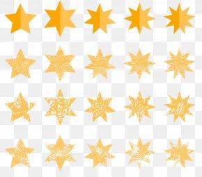 Yellow Star Of David - Mathematics Euclidean Vector PNG