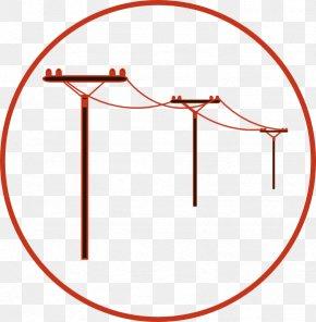 Pole - Utility Pole Electricity Overhead Power Line Electric Power Clip Art PNG