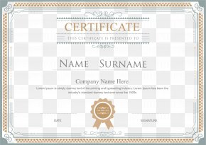 Certificate Border - Academic Certificate Template Diploma Illustration PNG