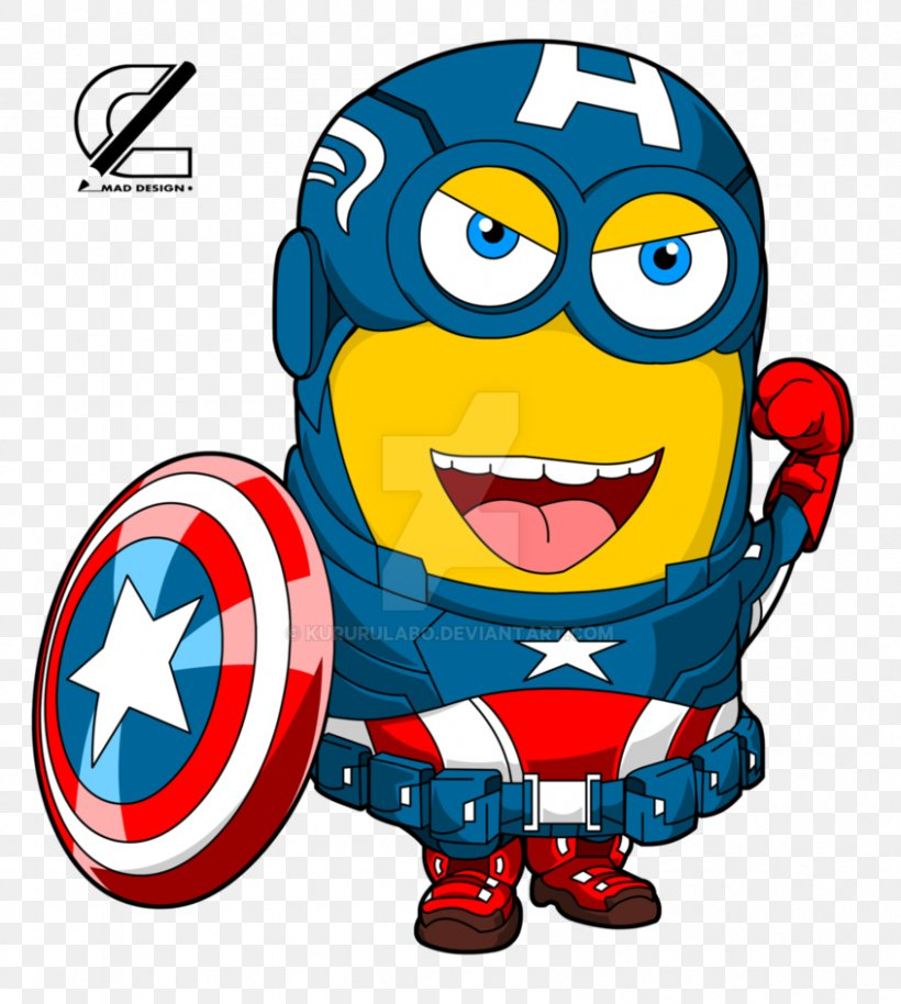 Captain America Youtube Minions Drawing Art Png 846x944px