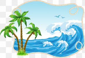 Coconut Tree Vector Material Decorative Patterns Free Buckle PNG