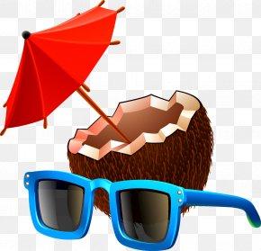 Coconut Beach - Goggles Clip Art PNG