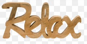 Relax HD - Wood Grain Wall Sign Metal PNG
