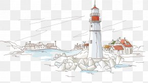 Matira Beach - Illustration Drawing Stock Photography Vector Graphics PNG