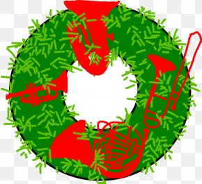 Large Christmas Wreaths - Clip Art Brass Instruments Free Content Image Brass Quintet PNG