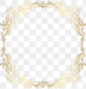 Deco Golden Border Frame Clip Art - Text Picture Frame Yellow Area Pattern PNG