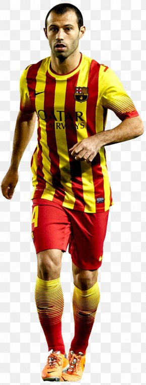 Fc Barcelona - Javier Mascherano Jersey Argentina National Football Team FC Barcelona Football Player PNG