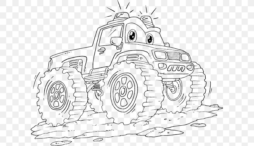 Car Monster Truck Coloring Book Grave Digger Png 621x471px Car Auto Part Automotive Design Black And
