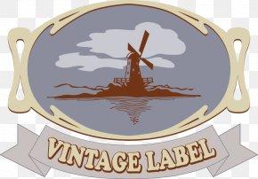 Painted Beige Oval Windmill Sea Border - Ellipse PNG