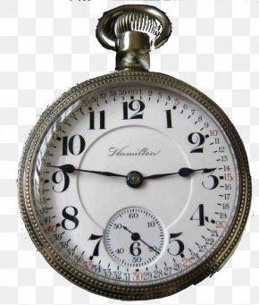 Hamilton Watch Company - Rail Transport Pocket Watch Clock Silver Watch Strap PNG