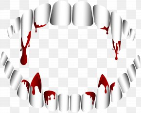 Vampire Teeth Transparent Clip Art - Vampire Fang Tooth Clip Art PNG