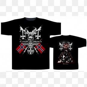 T-shirt - T-shirt Black Metal Heavy Metal Mayhem PNG