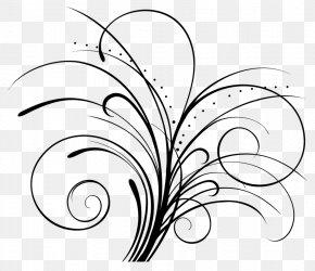 Flower - Floral Design Black And White Flower Clip Art PNG