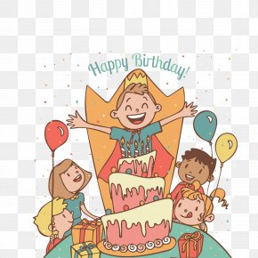 Creative Kids Birthday Party - Birthday Party Greeting Card Gift PNG