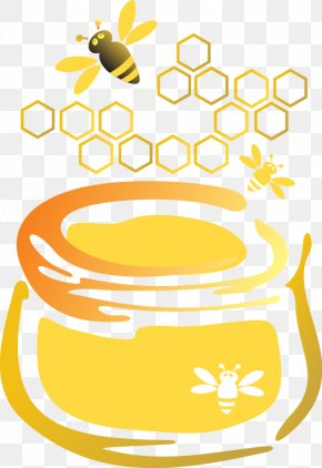 Honey Bees Honey Pot - Honey Bee Honey Bee Euclidean Vector PNG