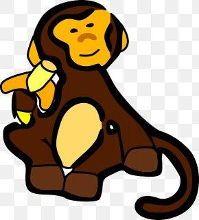 Monkey - Ape Primate Monkey Banana Clip Art PNG