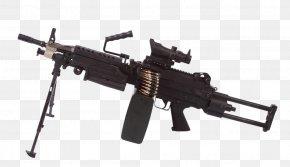 Black Machine Gun - M249 Light Machine Gun Squad Automatic Weapon Firearm Airsoft PNG