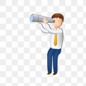 Boy With Binoculars - Binoculars Icon PNG