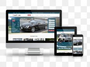 Car - Car Dealership Responsive Web Design Used Car Template PNG