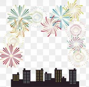 Carnival Night Fireworks - Fireworks Graphic Design PNG