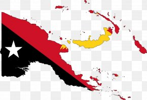 Flag - Flag Of Papua New Guinea Map PNG