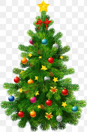 Christmas Tree Transparent Clipart - Candy Cane Santa Claus Christmas Tree PNG