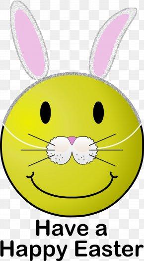 Easter Bunny - Easter Bunny Smiley Emoticon Clip Art PNG