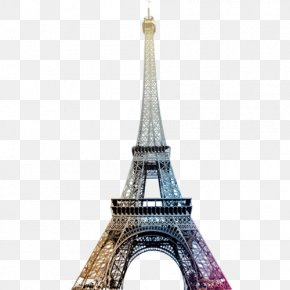 Colour Eiffel Tower - Eiffel Tower Paper Wall Decal PNG