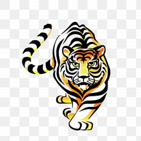 Tiger - Tiger Paper Car Sticker Decal PNG