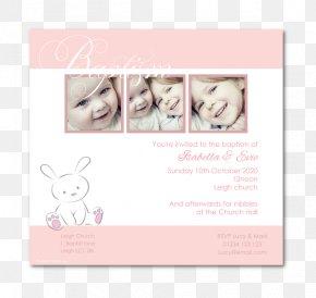 Christening Invitation - Wedding Invitation Picture Frames Pink M PNG
