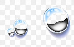 Blue Fresh Water Drops Decorative Patterns - Drop Dew Icon PNG