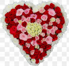 Flower Heart - Flower Bouquet Heart Rose PNG