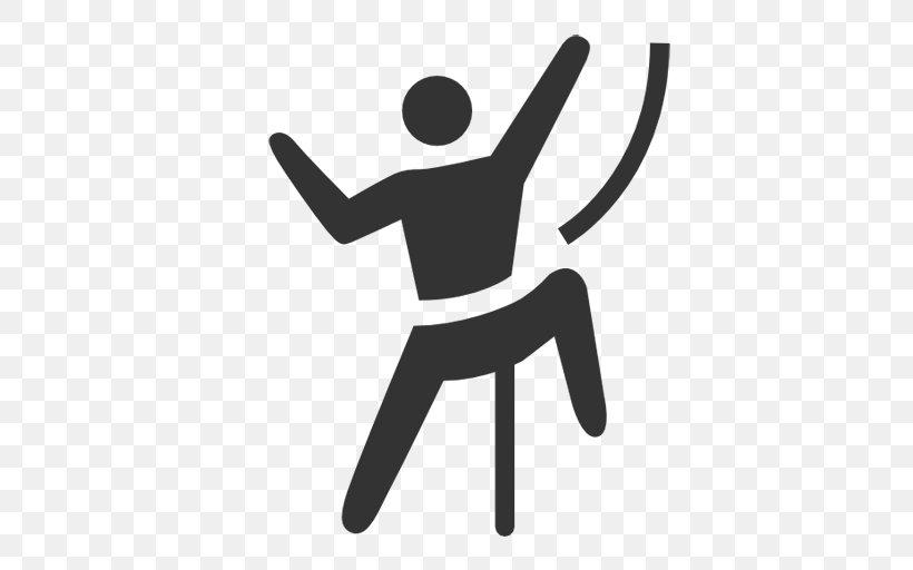 Free Climbing Sport Climbing Rock Climbing, PNG, 512x512px, Climbing, Anchor, Black And White, Carabiner, Climbing Harnesses Download Free