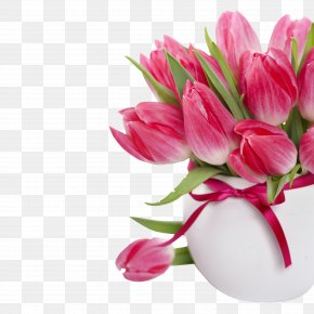 Tulip - Flower Bouquet Tulip Pink Flowers Rose PNG