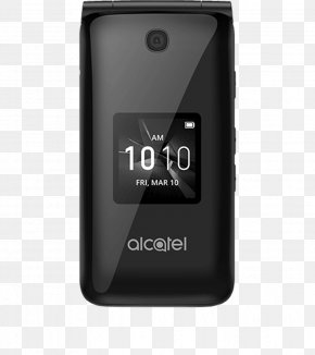 Flip Phones - Alcatel Mobile Feature Phone Telephone Clamshell Design 4G PNG