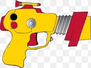 Cartoon Revolver Cliparts - Laser Tag Raygun Firearm Clip Art PNG