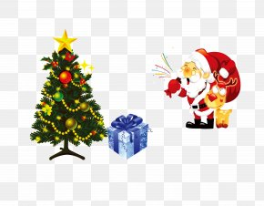 Santa Claus - Santa Claus Christmas Tree Illustration PNG