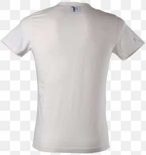 White T-Shirt Image - T-shirt Clothing Crew Neck Sleeve PNG