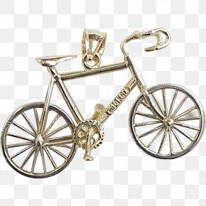 Vintage Bicycle - Car Wheel Silhouette PNG