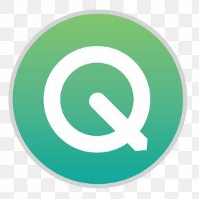Quicktime - Trademark Symbol Aqua PNG