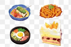 Delicious Hand-painted On The Tongue - Bento Vegetarian Cuisine Meal Food PNG