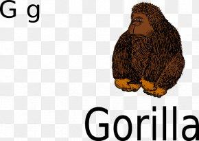Gorilla Clip - Gorilla Drawing Clip Art PNG