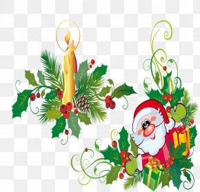 Creative Christmas - Christmas Tree Santa Claus Clip Art PNG