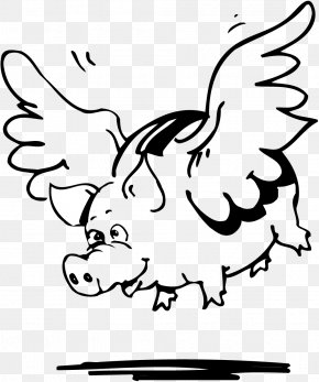Flying Piggy Bank - Visual Arts Coin Clip Art PNG