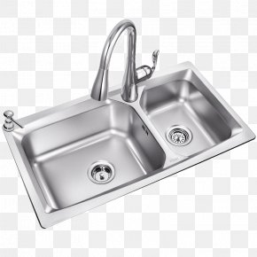 Kitchen Dishwashing Sink Double Cell Thick Package - Kitchen Sink Du0159ez Dishwashing Stainless Steel PNG