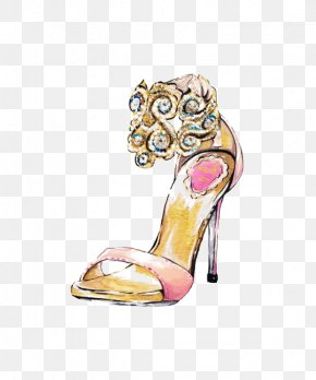Fashion Graffiti Heels - Shoe Fashion Drawing Illustration PNG